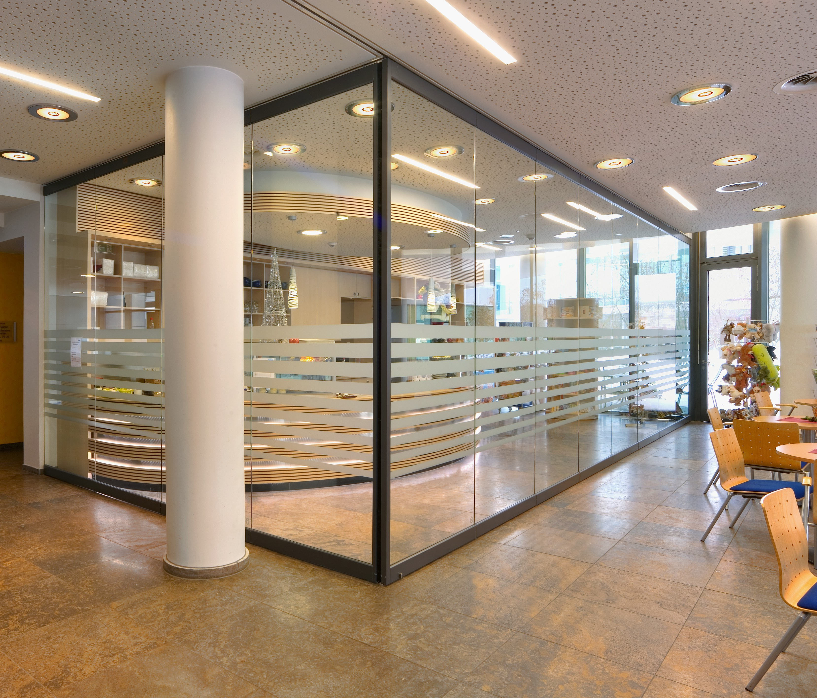 nusing visioline glass partition wall